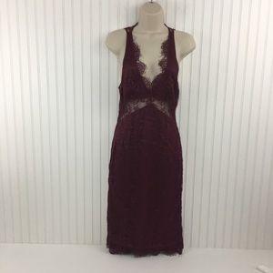 EUC Dolce and Gabbana deep V lace dress